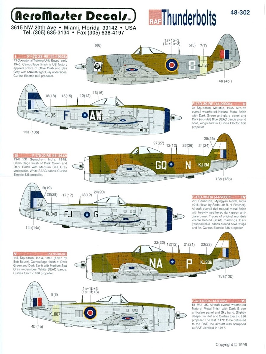 AeroMaster 48-302 - RAF Thunderbolts