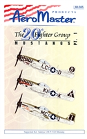 AeroMaster 48-565 The 20th Fighter Group Mustangs, Part I