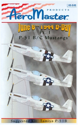 AeroMaster 48-646 P-51 B/C Mustangs Invasion Stripes, Part I (June 6th 1944 D-Day)