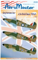 AeroMaster 48-664 Early Hurricane Aces of the British Empire 1939-40, Part II