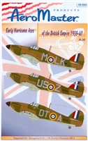 AeroMaster 48-665 Early Hurricane Aces of the British Empire 1939-40, Part III