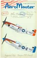 AeroMaster 48-772 - Blue Diamond Mustangs, 356 F.G., Part 2 (Fancy Nose Art)