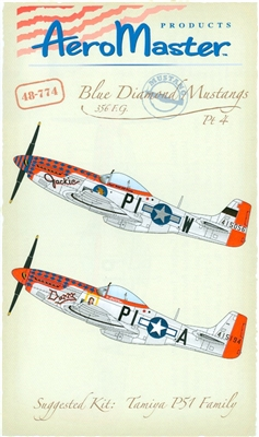 AeroMaster 48-774 - Blue Diamond Mustangs, 356 F.G., Part 4 (Fancy Nose Art)