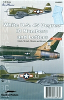 AeroMaster 48-803 White U.S. 45 Degree ID Numbers and Letters (8-inch, 12-inch, 18-inch, and 24-inch)