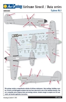 Aviaeology AOD32S03 - Typhoon Mk I Airframe Stencil / Data Series
