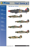 Aviaeology AOD48007.2 - Vital Storm Part 2 - Early Hurricanes Collection:  Battle of Britain and Beyond