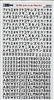 Aviaeology AOD48C22 - Tail Codes for WWII Imperial Japanese Navy Aircraft:  280 mm Black