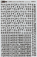 Aviaeology AOD48C22m - Tail Codes for WWII Imperial Japanese Navy Aircraft:  280 mm Black