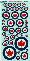 Aviaeology AOD48C50 - RCAF Roundels, Silver Maple Leaf Version - in use from 1948