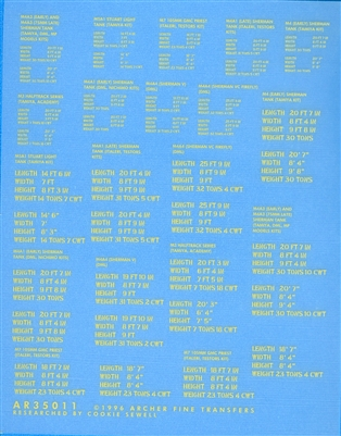 Archer AR35011Y - D-Day Shipping Stencils for British Armoured Vehicles (Yellow)