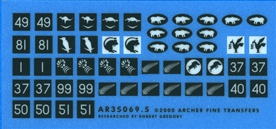 Archer AR35069.5 - 8th Army Arm of Service & Formation Signs 1940-42 (for smaller vehicles & armored cars)