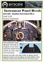 AirScale 24-HUA - Hawker Hurricane Mk 1 Instrument Panel Decals