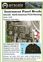 AirScale 24-NAA - North American P51D Mustang Instrument Panel Decals