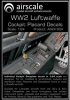 AirScale 24-SCH - WWII Luftwaffe Cockpit Placards