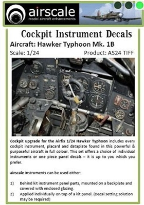 AirScale 24-TIFF - Typhoon Mk 1b Instrument & Placard Upgrade Set