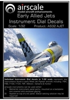 AirScale 32-AJET - Instrument Dial Decals for Early Allied Jets