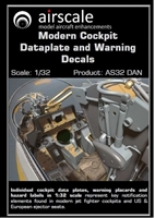 AirScale 32-DAN - Modern Cockpit Dataplate and Warning Decals