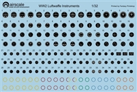 AirScale 32-GER - WW2 Luftwaffe Instrument Dial Decals