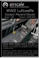 AirScale 32-SCH - WW2 Luftwaffe Cockpit Placards