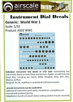 AirScale 32-WW1 - World War 1 Instrument Dial Decals