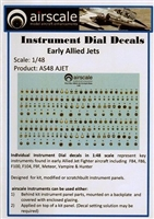 AirScale 48-AJET - Instrument Dial Decals for Early Allied Jets