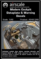 AirScale 48-DAN - Modern Cockpit Dataplate & Warning Decals