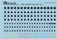 AirScale 48-GER - WW2 Luftwaffe Instrument Dial Decals