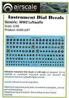 AirScale 48-LUFT - WW2 Luftwaffe Instrument Dial Decals