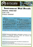 AirScale 48-RAF - WWII RAF Instrument Dial Decals