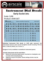 AirScale 48-SJET - Instrument Dial Decals for Early Soviet Jets