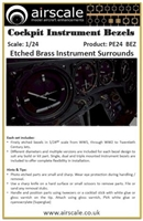 AirScale PE24-BEZ - Cockpit Instrument Bezels (Etched Brass Instrument Surrounds)