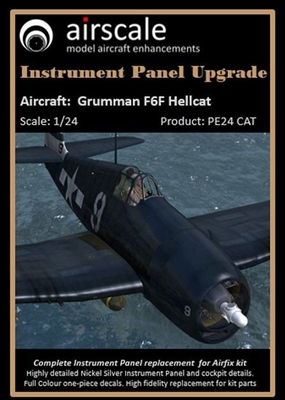 AirScale PE24-CAT - Grumman F6F Hellcat Instrument Panel Upgrade