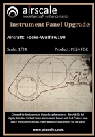 AirScale PE24-FOC - Focke-Wulf Fw 190 Instrument Panel Upgrade (for Airfix kit)