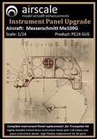 AirScale PE24-GUS - Messerschmitt Me 109G Instrument Panel Upgrade (fits Trumpeter kit)
