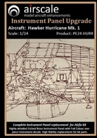 AirScale PE24-HUR - Hawker Hurricane Mk. 1 Instrument Panel Upgrade (fits Airfix kit)