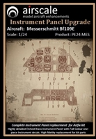 AirScale PE24-MES - Messerschmitt Bf 109E Instrument Panel Upgrade (fits Airfix kit)