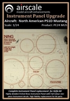 AirScale PE24-MUS - North American P51D Mustang Instrument Panel Upgrade (fits Airfix kit)