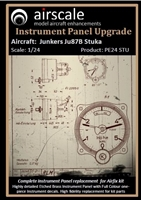 AirScale PE24-STU - Junkers Ju87B Stuka Instrument Panel Upgrade (fits Airfix kit)
