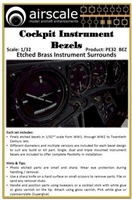 AirScale PE32-BEZ - Cockpit Instrument Bezels (Etched Brass Instrument Surrounds)