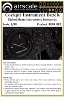 AirScale PE48-BEZ - Cockpit Instrument Bezels (Etched Brass Instrument Surrounds)