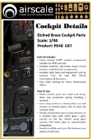 AirScale PE48-DET - Etched BrAirScale s Cockpit Parts