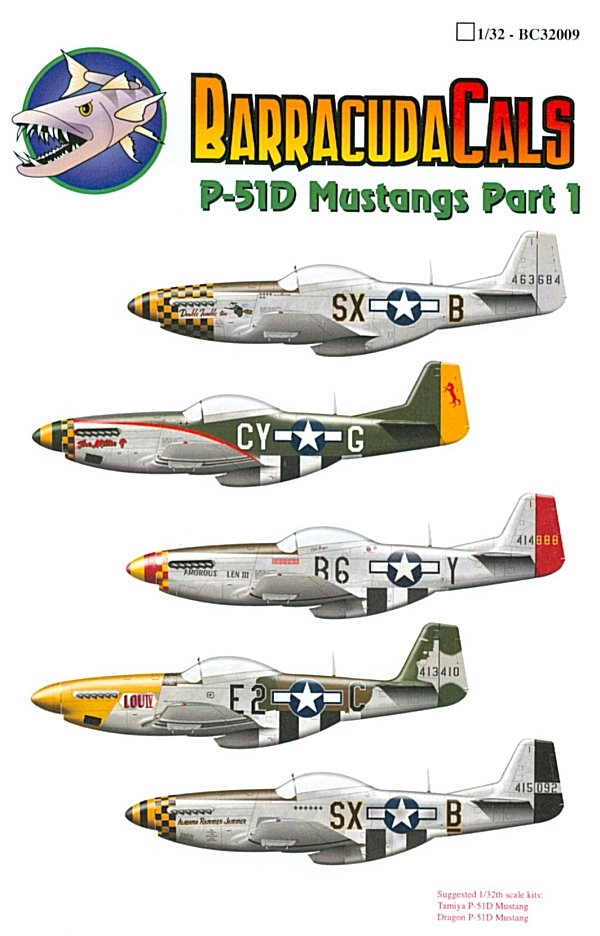 P-51D Mustang 1//72 scale 72007 Hussar Productions decals