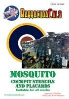 Barracuda BC32269 - Mosquito Cockpit Stencils and Placards