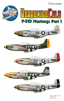 Barracuda BC-48011 - P-51D Mustangs, Part 1