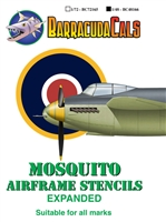 Barracuda BC-48166 - Mosquito Airframe Stencils - Expanded