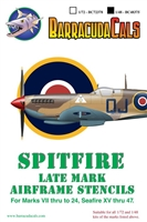 Barracuda BC-48375 - Spitfire Late Marks Airframe Stencil