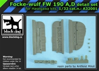 Black Dog A32001 - Focke-Wulf Fw 190 A, D Detail Set
