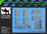 Black Dog A32003 - Messerschmitt Me-109 G, K Detail Set