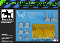 Black Dog A32005 - Fw-190 A8/R2 Sturmbock Detail Set