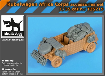 Black Dog T35219 - Kubelwagen Africa Corps Accessories Set